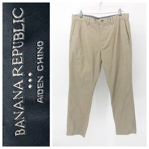 Banana Republic Aiden Chino Khaki Pants 34 30